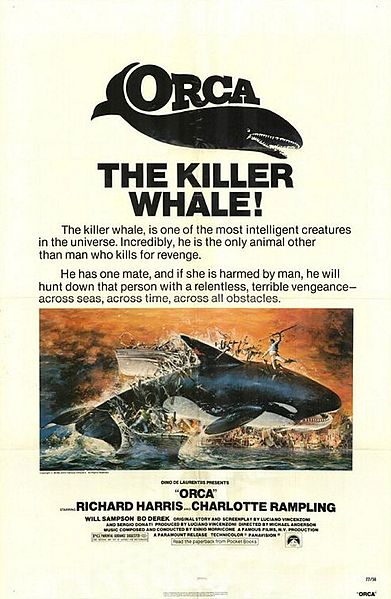 Orca, the Killer Whale movie poster